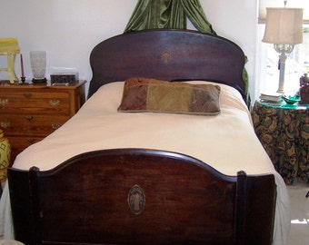 Elegant Vintage Wood Bed - Fort Smith Arkansas Origin - ReDuCeD