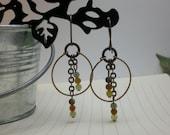 Multi Color Brass Earrings