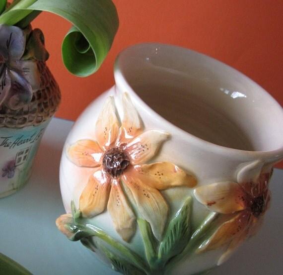 Brown Eyed Susan Handmade Vase