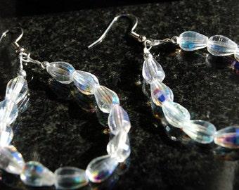 Czech Crystal Circle Earrings