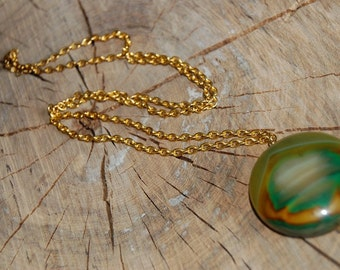 Awesome Agate Pendant Necklace
