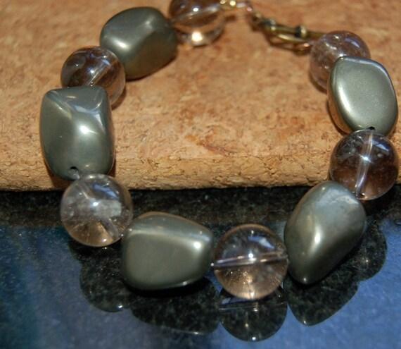 Pyrite and Quartz Bracelet