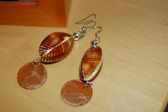 Sand and Sun Shell Earrings
