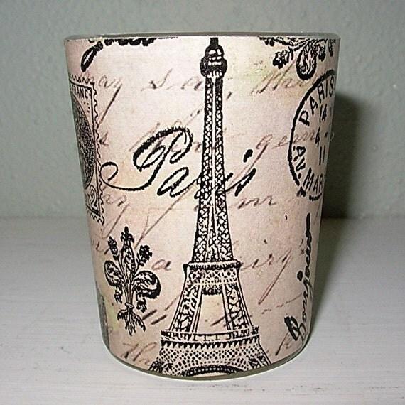Votive Candle / Paris Theme