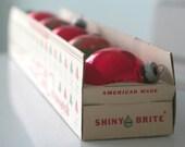 SALE - Shiny-Brite Red Christmas Tree Ball Ornaments