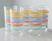 Federal Pastel Striped Tumblers