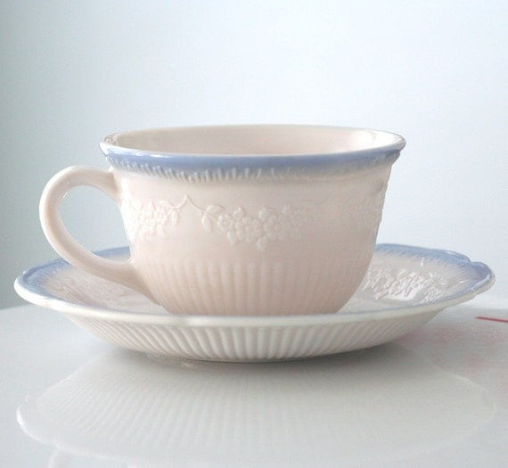 Anchor Hocking Vitrock Alice Cup and Saucer