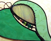 2 DAY SALE Stained Glass Heart Mixed Media Suncatcher