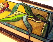 Stained Glass Window Panel Collage Art