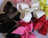 U Pick 3---Large Basic Boutique Hairbow---Great Get Started Bundle---Choose Your Colors