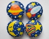 Set of 4-Space themed Drawer Knobs