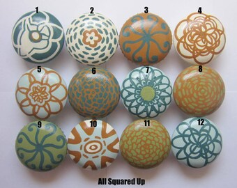 "Set of 4 Large 2"" Drawer Knobs for Home Decor-Collection 1-Mix 'N' Match-you choose which designs"