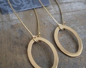 Oval Gold Link Earrings HALF OFF
