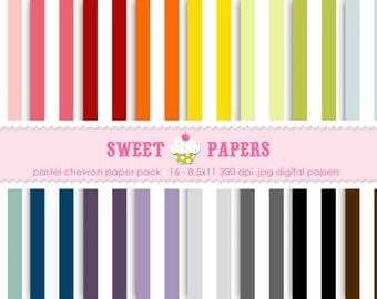 Large Stripes Digital Paper Pack - Commercial and Personal Use - by Sweet Papers