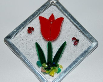 Red Tulip Ornament