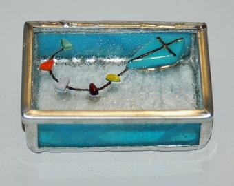 Kite Stained Glass Trinket Box