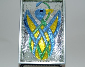 Celtic Bird Stained Glass Box