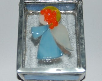 Angel Stained Glass Trinket Box