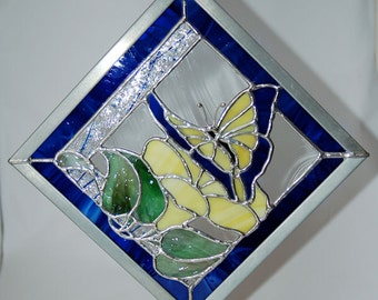 Blue and Yellow Butterfly Panel