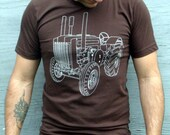 Mens Tshirt - Tractor Tshirt - Mens Clothing - Fall Fashion - For Him - Thanksgiving Gift - Harvest Inspired - Country Life - Gift Guide
