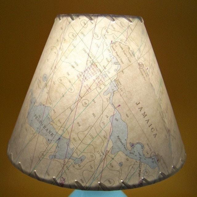 Jamaica Nautical Chart Lamp Shade By By Botanicallampshades
