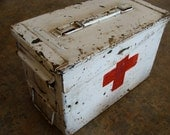 Chippy 1960s Make do Vietnam Ammunition Heavy Metal First Aid Lock Box