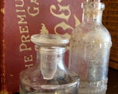 Antique Apothecary  Glass Bottles