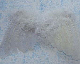 Gorgeous White Feathered Fairy Angel Wings