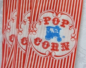Darling nostalgic Vintage Circus Carnival Popcorn Bags for Altered art