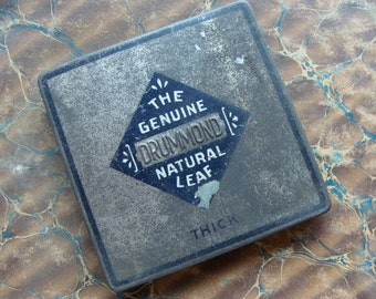 Antique old Embossed Hinged Tin