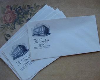 Six Antique 1920s The Ongford Hotel unused Envelopes