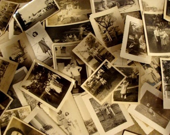 Vintage Black and White Photo Lot of Two Dozen