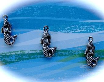 Beautiful Sea Maiden Silver MerMaid Charms