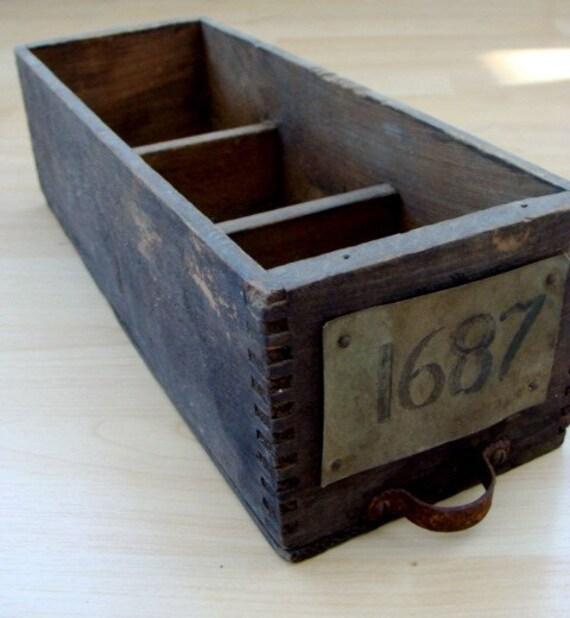 Antique Hardware File Box N0. 1687