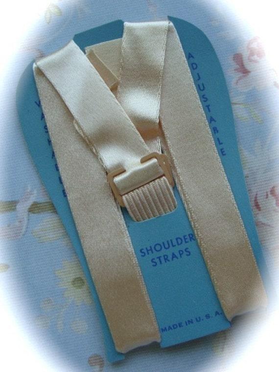 Antique 1940s Shoulder Silk Straps we call them Bra straps now