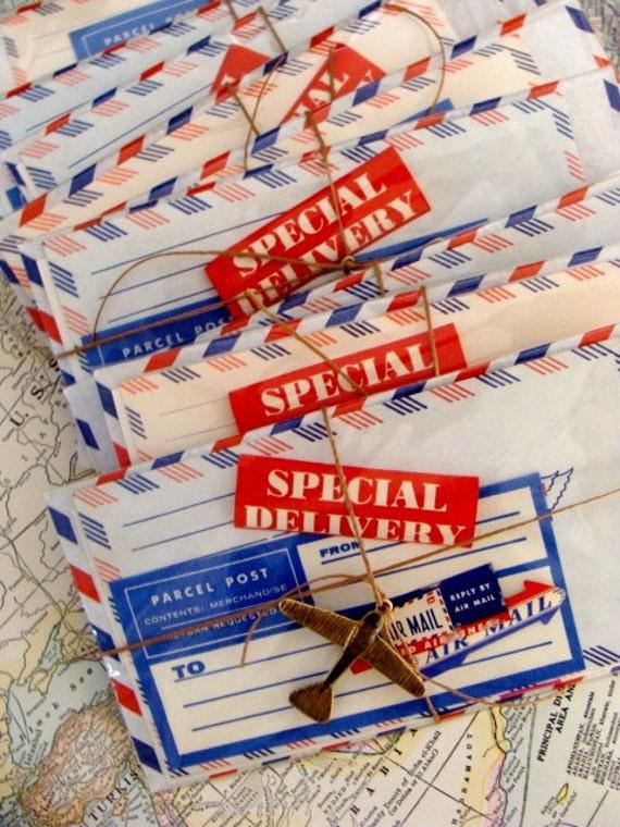 Unused Way KQQL Vintage Par Avion Via Air Mail Mixed Lot