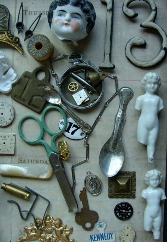 Way KOOL Steampunk Assemblage Antique and Vintage Huge Lot 13
