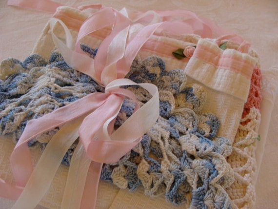 Beautiful Vintage Linens and Embroidery Mixed Bundle N06