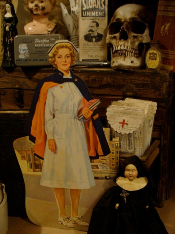 Reserved for Carin Vintage Nurse Huge Classroom Cutout from Teachers Estate
