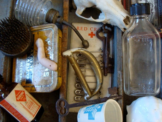 Antique Medical, Salvaged and Vintage Hardware STEAMPUNK  Mixed Unit  N0 74