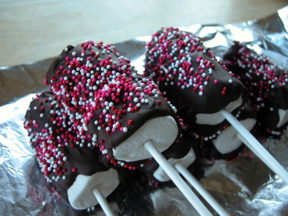 Items Similar To Chocolate Dipped Marshmallows On Etsy