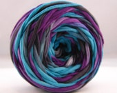 T Shirt Yarn Hand Dyed- Bruise 60 Yards