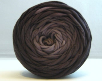 T Shirt Yarn Hand Dyed- Black Ombre 40 Yards