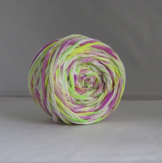 T shirt yarn hand dyed multi fluorescent 60 yards from for T shirt printing st charles mo