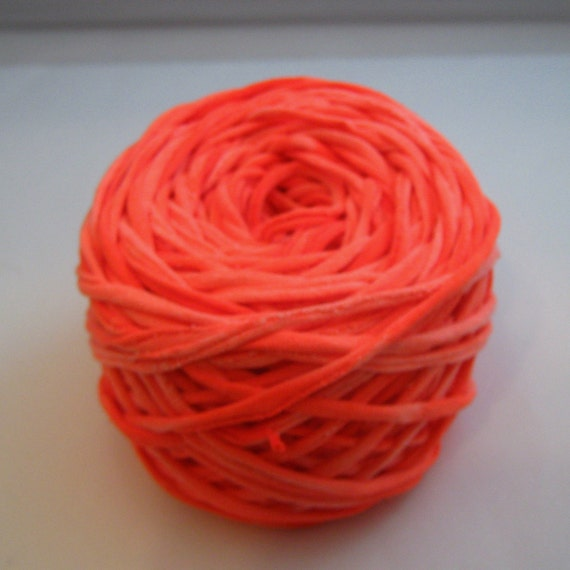T shirt yarn hand dyed marbled neon orange 60 yards from for T shirt printing st charles mo