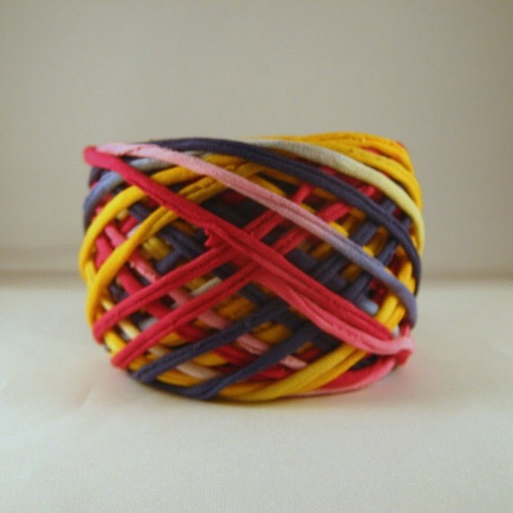T shirt yarn hand dyed pink navy yellow 60 yards from for T shirt printing st charles mo
