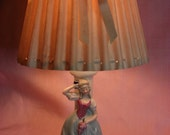Vintage Porcelain German Lady Lamp