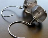 Brown Recycled Glass Earrings, Eco Friendly Earrings - Night Sky