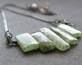 Green Kyanite Necklace - Glacier