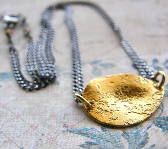 mixed metals necklace gold and silver necklace gold medallion chain